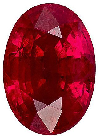 Good value in genuine Burma ruby with a vibrant medium rich red, excellent cut, clarity and life. A very bright and lively stone.