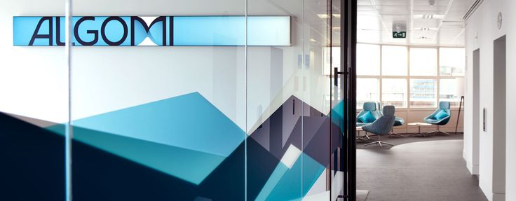 Glass manifestation effectively reinforcing corporate branding