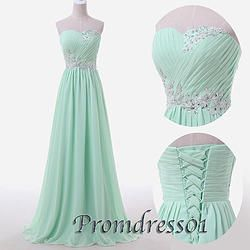 Lovely mint green gown.