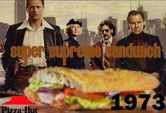 Pizza Hut Supreme Sandwich Sub Recipe | 1970's......Hot Ham and Cheese