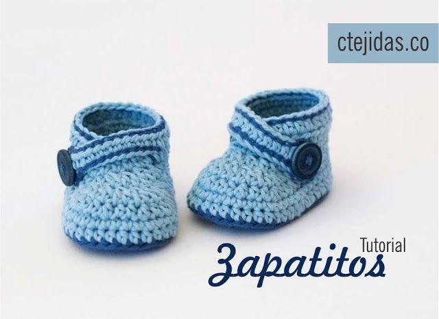 Tutorial #108: Zapatitos a Crochet - FotoTutorial | CTejidas [Crochet y Dos…