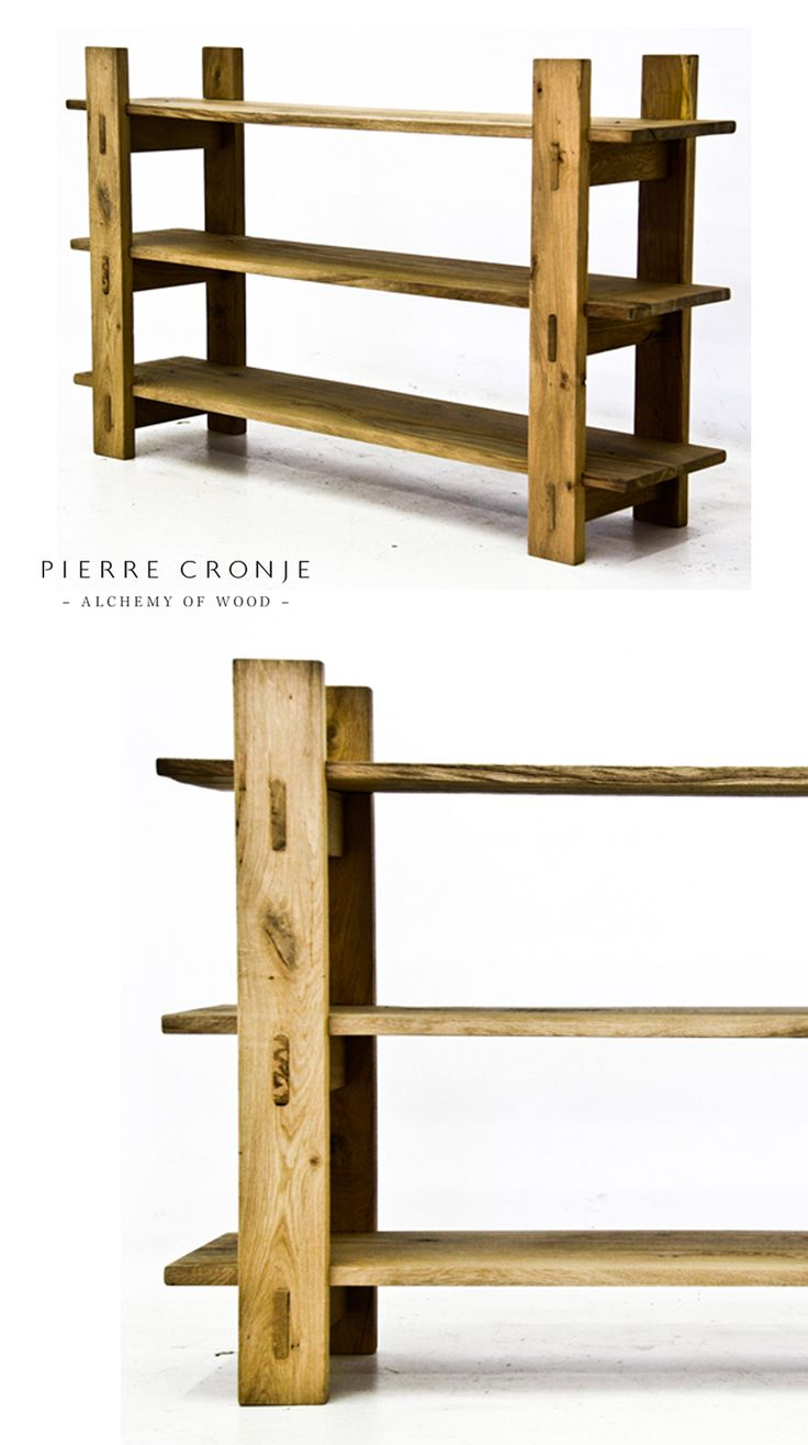 A Pierre Cronje Loft Bookcase in french Oak