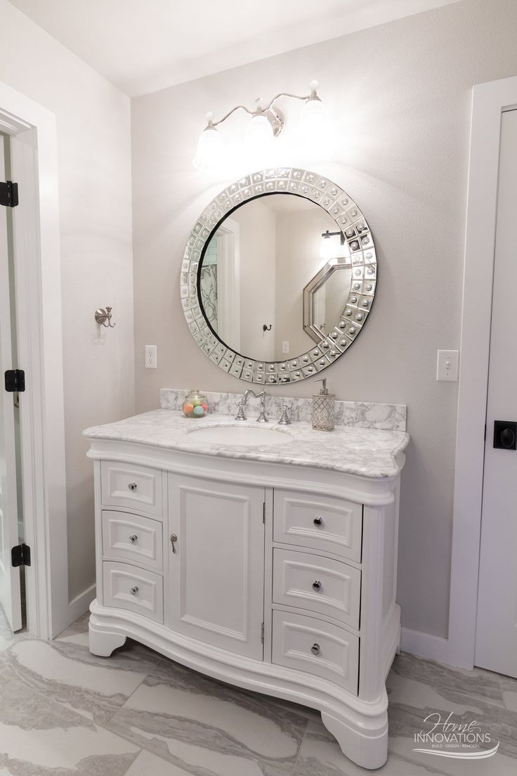 custom home builder tulsa ok rustic glam bathroom with white marble top vanity
