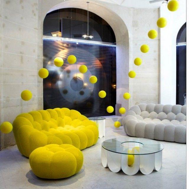 id es d co maison la nouvelle collection de roche bobois automne hiver 2014 couleurs jaune. Black Bedroom Furniture Sets. Home Design Ideas