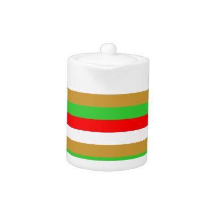 Tajikistan flag stripes teapot - patterns pattern special unique design gift idea diy