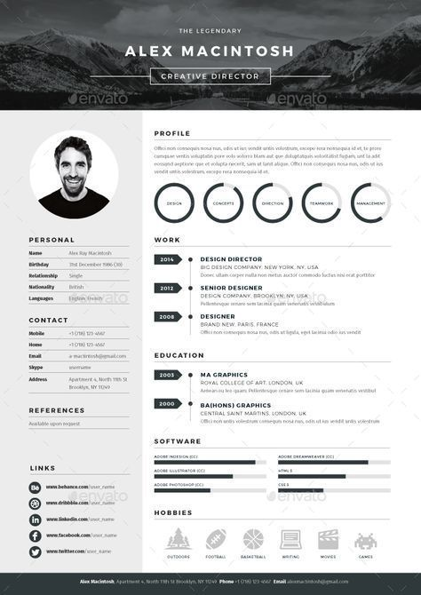 Resume : Mono Resume | GraphicRiver