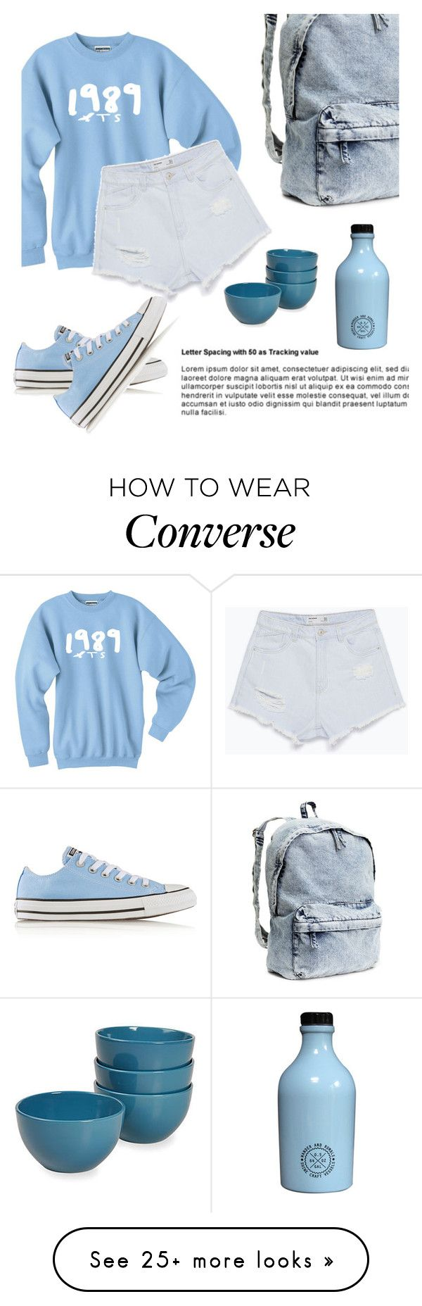 """""""Light Blue"""" by ladyshwalla on Polyvore featuring Converse, H&M and Zara"""