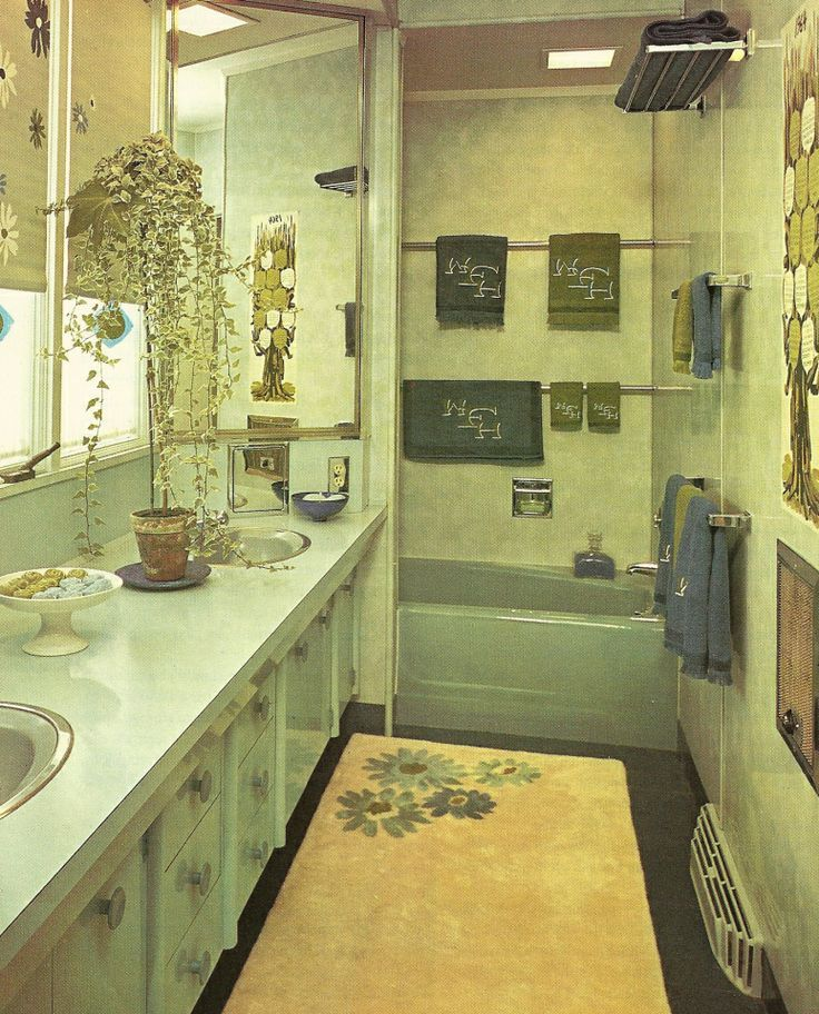 1960s bathrooms vintage home decorating lovies pinterest home 1960s and vintage homes for Home decor interiors bathroom