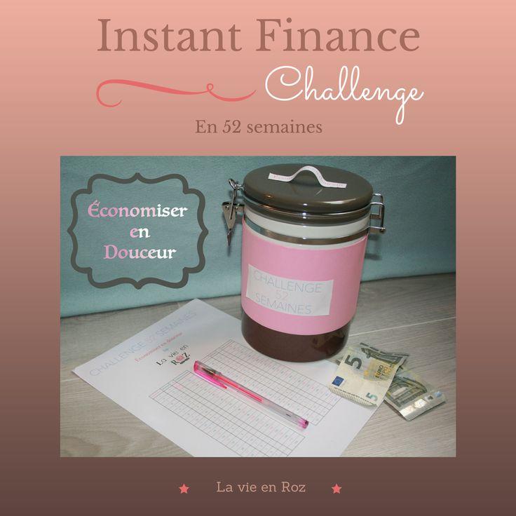 Économiser en douceur, Challenge 52 semaines, Printable gratuit, Idées DIY.