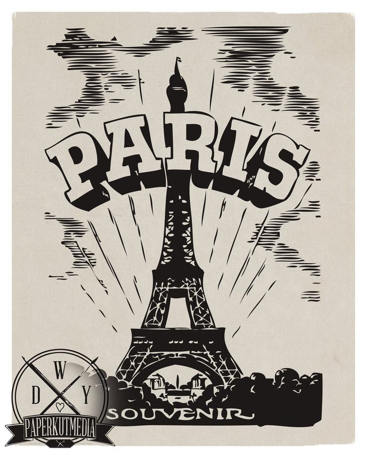A Paris Apartment And A Paris Graphic: ⚜ Paris ⚜ Typography ⚜ Ephemera