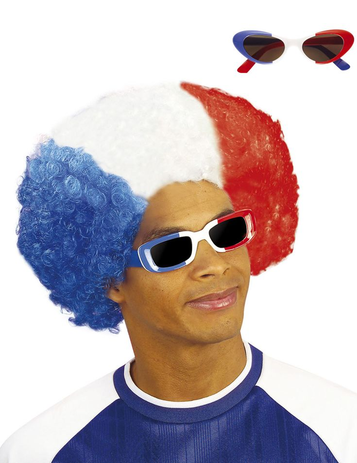 Lunettes supporter France adulte : Cette paire de lunettes au couleurs du drapeau Français est pour adultes. Elles seront, de manière aléatoire, de forme ronde ou carrée.Cette paire de lunette de la France...