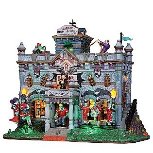 lemax spooky town collection horror high with 45v adapter halloween villageholidays halloweenhalloween decorationsthe