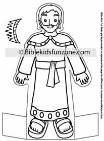 King Solomon craft - Stand-up Solomon Bible Character for kids to color.