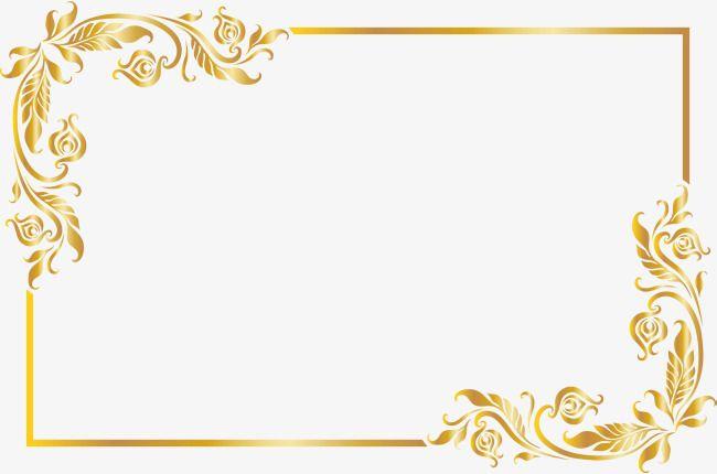 Golden Noble Frame Frame Clipart Golden Honorable Png Transparent Clipart Image And Psd File For Free Download Floral Border Design Frame Border Design Poster Background Design