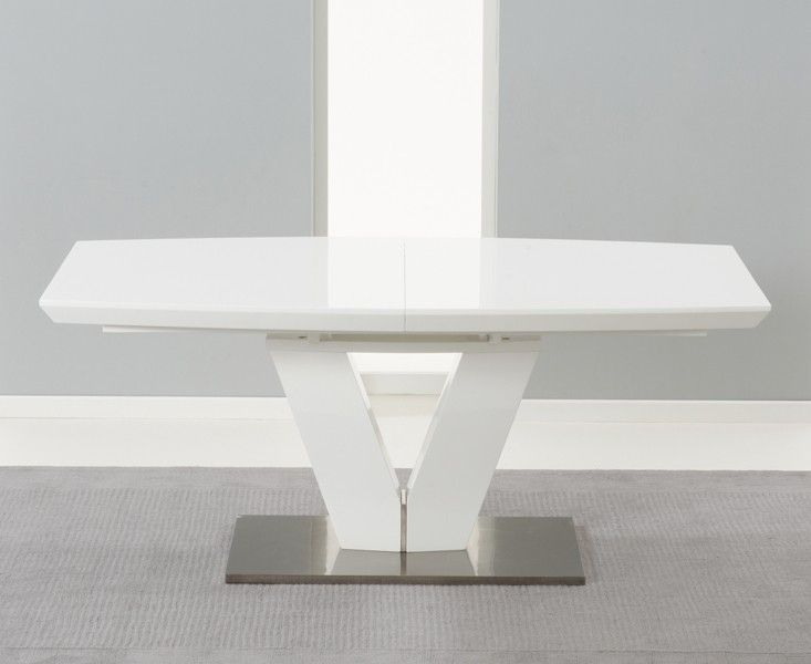 Beautiful Buy The Malaga White High Gloss Extending Dining Table At Oak Furniture  Superstore