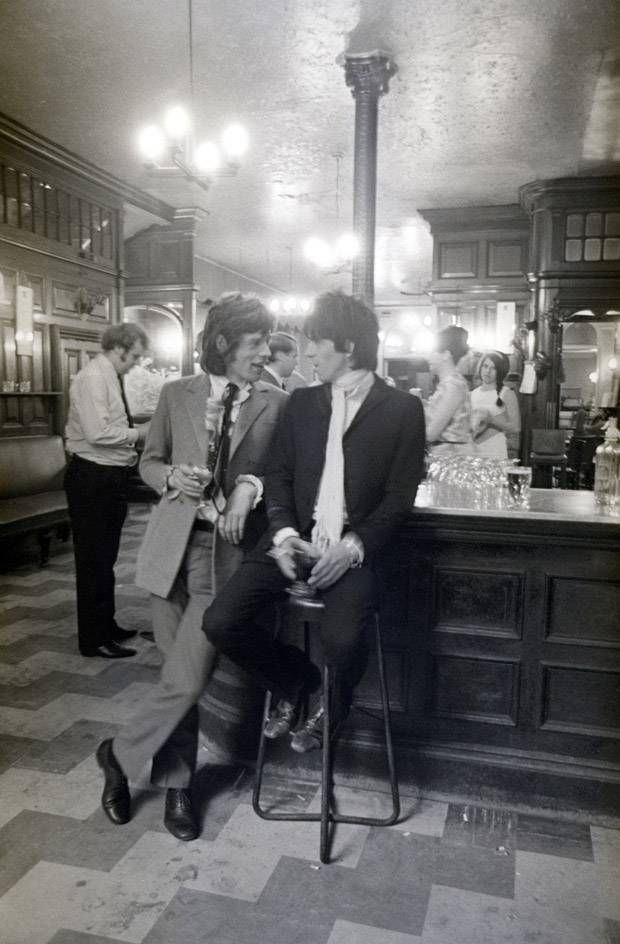 Mick and Keith in a pub...I love this pic, The Stones are one of top all time fave bands ever...
