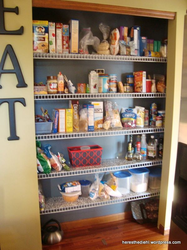 Build Your Own Garage >> Pantry Makeover + DIY Shelf Liners for Wire Shelves | DIY