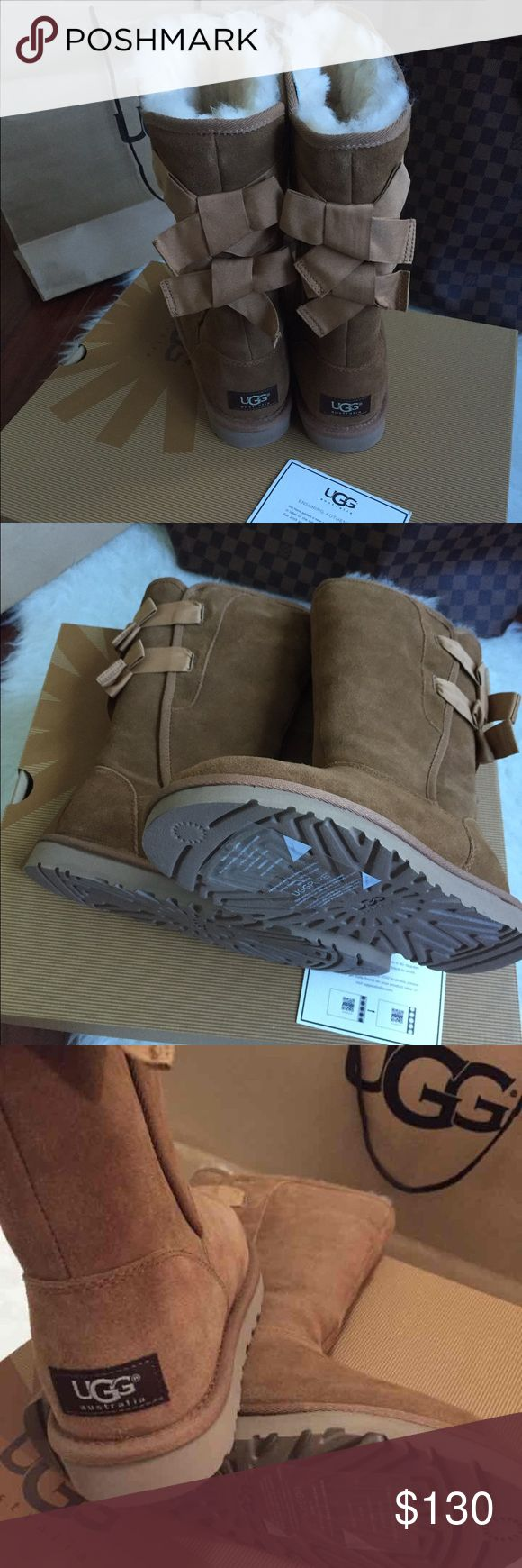 UGG women EVERLEIGH boots🐨🐨🐨 Brand new with box and tag bought at UGG store receipt available.These beauties are 100% authentic QR reader scannable. Fully lined on inside with wool will keep your feet warm this winter and many to come.UGG boots are easily cleanable and are water proof no better way to face the winter🐨🐨🐨 UGG Shoes Winter & Rain Boots