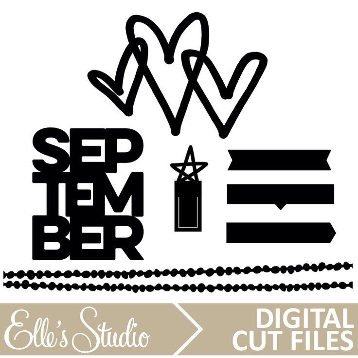 September Digital Cut File