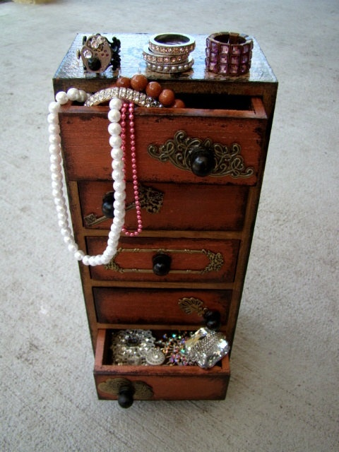 jewelery box...or ya know....stuff to go in it. A girl can never have too many accessories.
