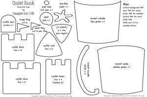 MUST DO - Sandcastle Quiet Book Page Pattern