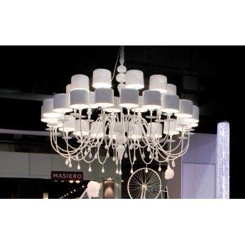 Nowoczesna lampa wisząca z serii Eva #Masiero #Eva #salon #lampy_do_salonu #design #nowoczesne_lampy #wnętrze #interior #lampy_kraków #abanet_kraków #abanet
