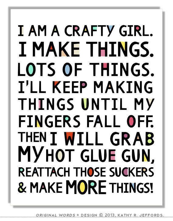 Crafty Girl Typographic Print