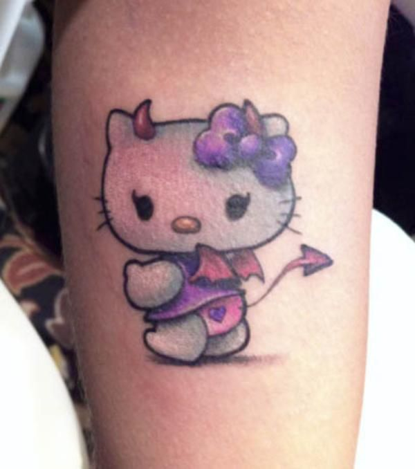 Free Tattoo Designs hello kitty | devil hello kitty 20 Crazy Hello Kitty Tattoos