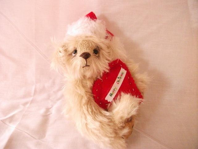 Mohair Artist Heirloom Collector's Christmas Bear  Mimi £30.00
