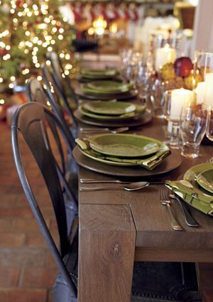 """Green dinnerware to go with our already """"Asian zen"""" theme in the dining room."""