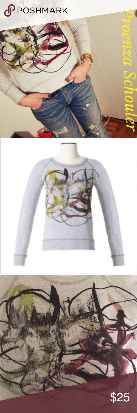Proenza Schouler Neimun Marcus 4 Target sweatshirt Proenaza Schouler gray and multicolor sweatshirt from the Neiman Marcus for Target collection. So cute and perfect to wear year round. Worn a handful of times. Open to offers, no trades. Neiman Marcus Tops Sweatshirts & Hoodies