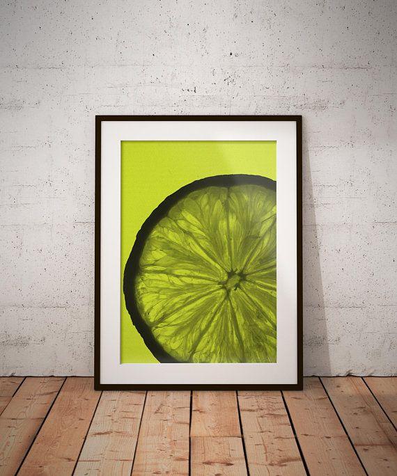 Lemon Print, Lemon Wall Art, Fruit Decor, Kitchen Print, Kitchen ...