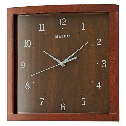 Seiko Wood Wall Clock Model Qxa675zlh Seiko Watches Https Www Amazon Com Dp B01n6bvvvb Ref Cm Sw R Pi Dp U Brown Wall Clocks Square Wall Clock Wall Clock