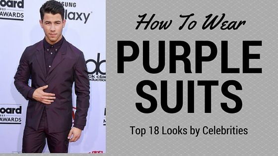 Love these PURPLE Suits... check it out! #PurpleSuit  https://www.mensusa.com/reviews-blog/how-to/top-18-celebrity-purple-suit-looks/