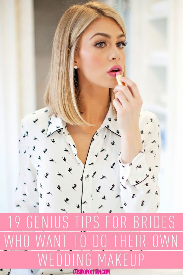 WEDDING MAKEUP TIPS: Save money and be sure to get a look you love on your big day by doing your own makeup! Makeup artists Matin Maulawizada, Joanna Schlip, and Colleen O'Neill shared their best wedding day prep and makeup tips so you can get a create a DIY look that's ~flawless~. Click through for all of the 19 genius tips and expert insight!