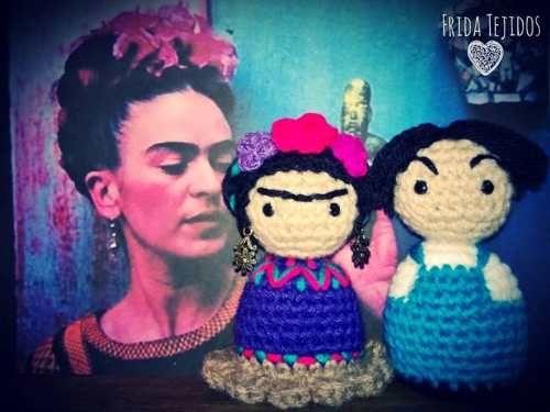 Frida Kahlo Y Diego Rivera Amigurumis - $ 380,00