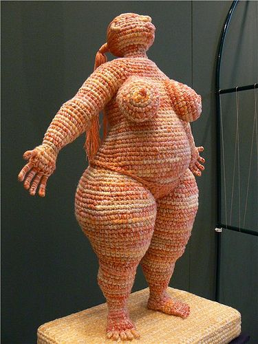 Wow!, archetypal goddess figure in crochet - combines two of my passions into a rather striking image