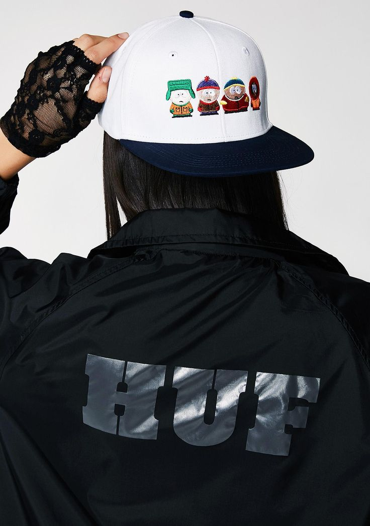 HUF Kidz Strapback Hat 'cuz you're one of tha cool kidz. This flat brimmed hat has an adjustable back with tha homiez embroidered on tha front.