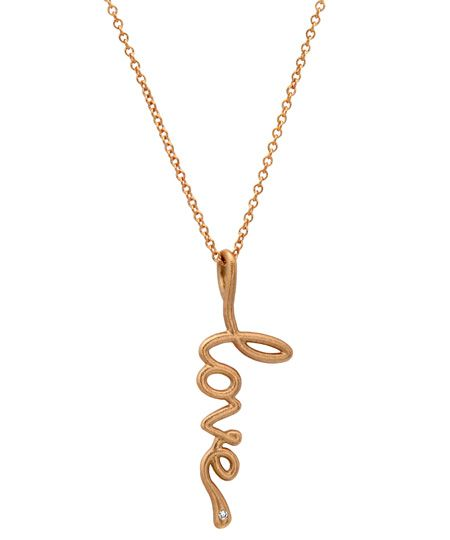 Avanessi Small Script Pendant Necklace - Max and Chloe