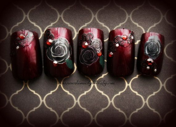 41 Best Gothic Nails Images On Pinterest Nail Design Nail