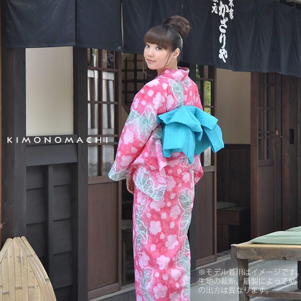 tela yukata hierbas mujer yukata