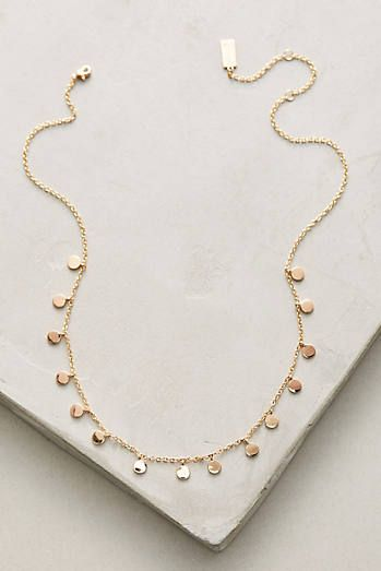 Delicate Discs Choker Necklace