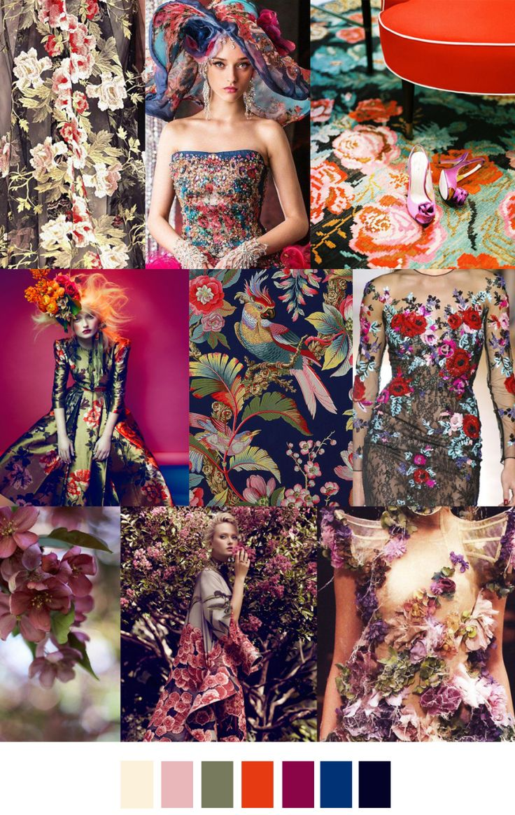 Shirt design trends 2017 - Fancy Floral Fall Winter 2017