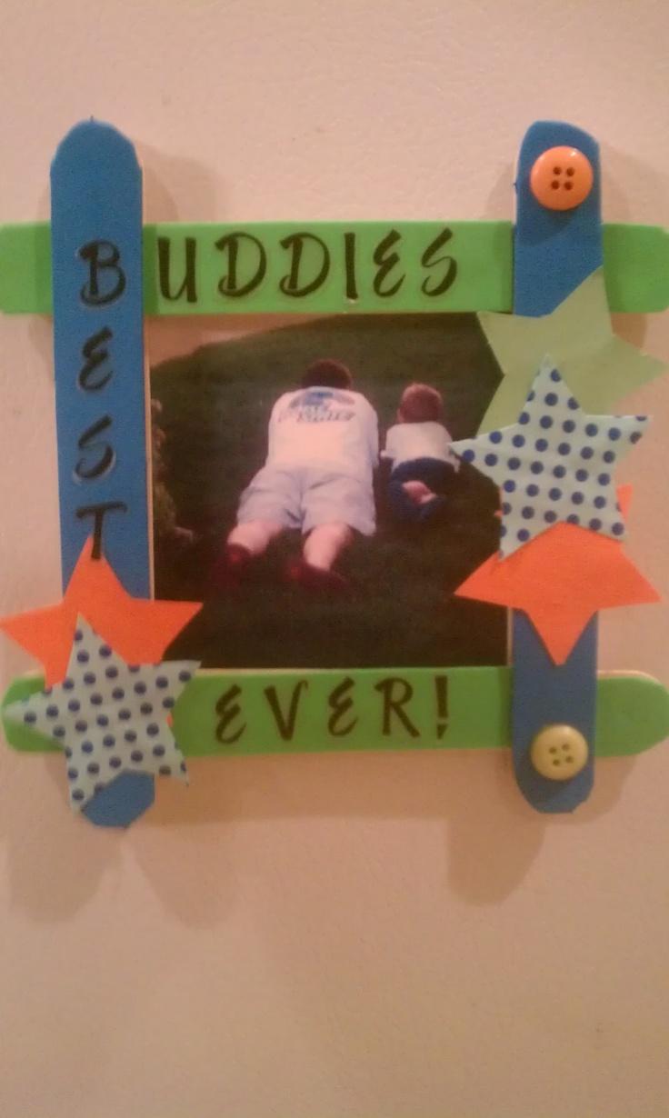 14 best i love making popsicle stick frames images on best buddies framede for someone i know jeuxipadfo Choice Image