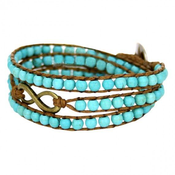 Turquoise Infinity Wrap Bracelet