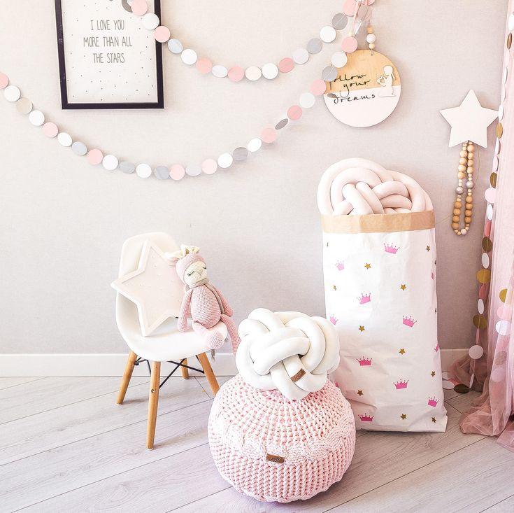Small Pink Floor Pouf Ottoman | Knitted Pouf | Knit Pouf | Knitted Ottoman  | Footstool | Knitted Pouffe |crochet Pouffe