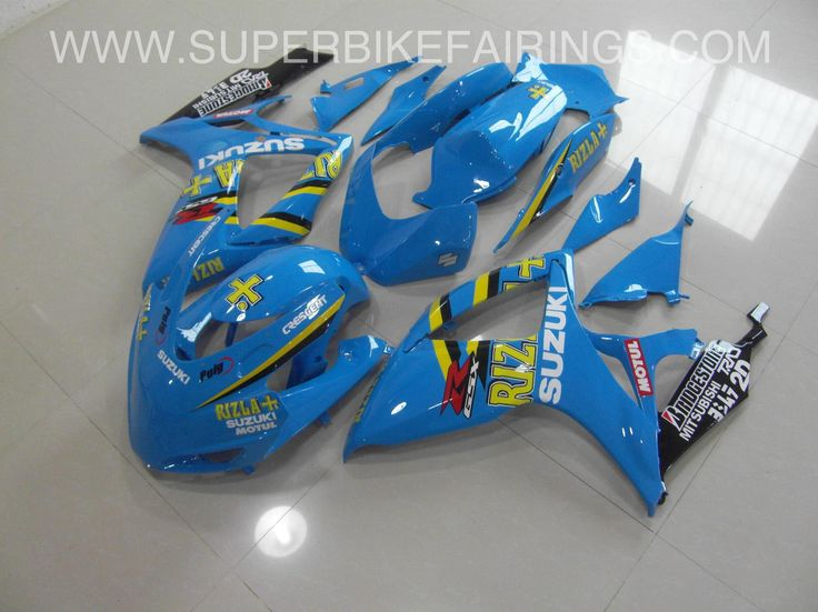 2006-2007 GSXR-600 750 Blue with Yellow Accents Rizla Fairings
