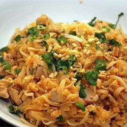A Pad Thai Worth Making Recipe.  Use 1/4 cup rice wine vinegar. Add 2tbs peanut butter