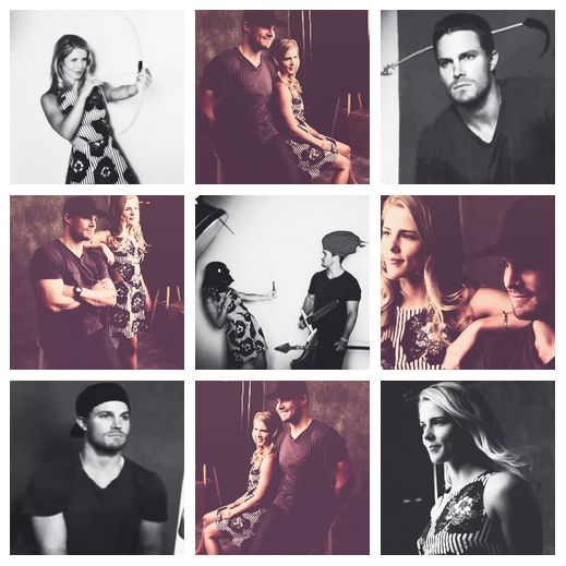 Arrow - Emily Bett Rickards & Stephen Amell. At first I loved that they were gonna be besties, and now I just want them to get together!