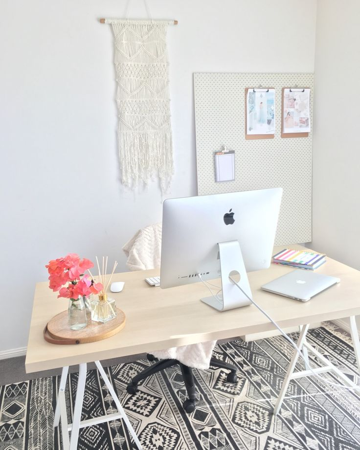 My Home Office & Workspace. Beautiful, Feminine & Light